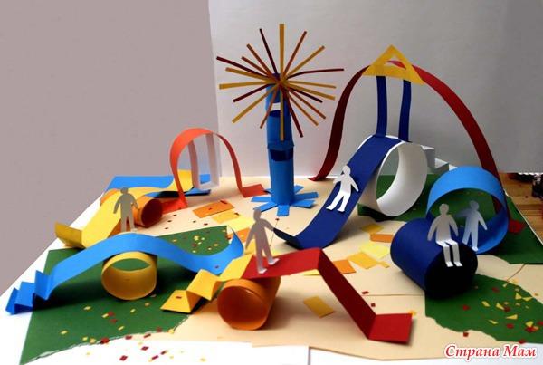 Поделки в детский сад из бумаги своими руками