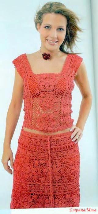 Вязание крючком для женщин летние костюмы