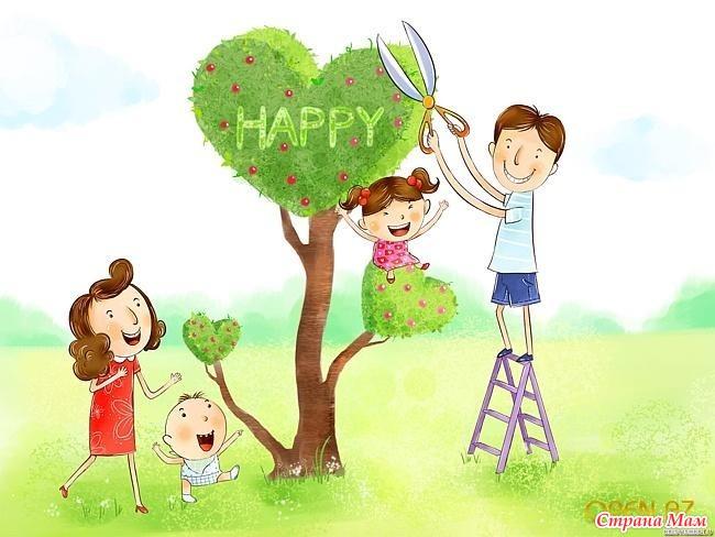 Когда ребенок рисует семью