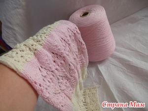 Вязание из бобинной пряжи спицами