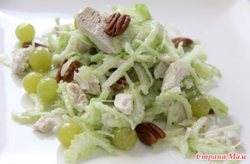 Салат сельдерей с курицей и виноградом рецепт с