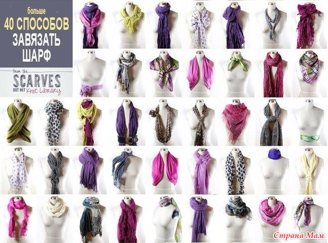 Способы шарфа