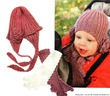 Вязаная шапочка с цветком и шарфик для маленькой девочки - тепло и красиво.  Вязание шапок и шарфов для девочек...