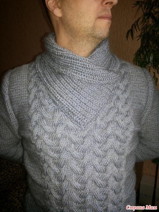 Вязание воротников для пуловеров 994