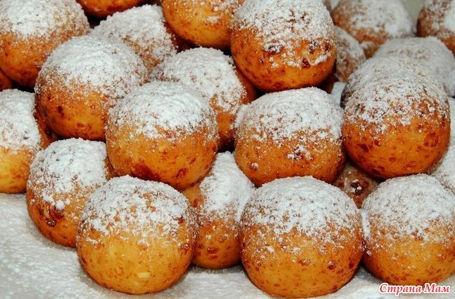 Пончики с творогом рецепт пошаговый с фото