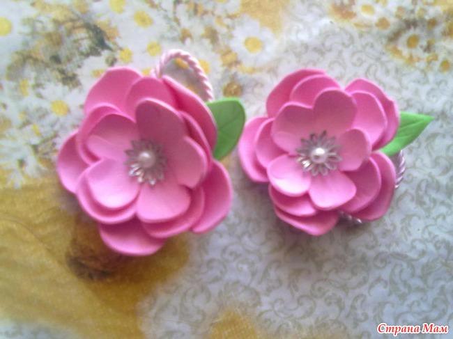 Простые цветы из фоамирана с пошаговым