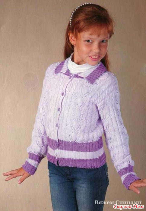 Блузка Для Девочки Вязать