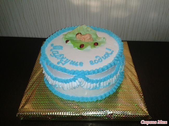 Кремовые торты на год мальчику фото