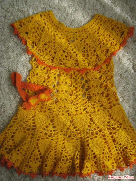 Вязание крючком платье солнце
