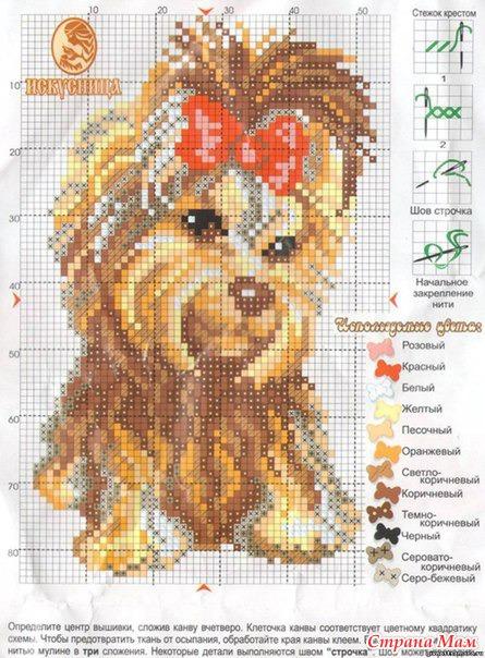 Набор для вышивания щенок
