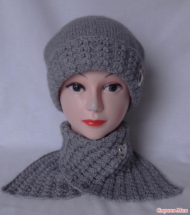Страна мама вязание спицами шапок 25