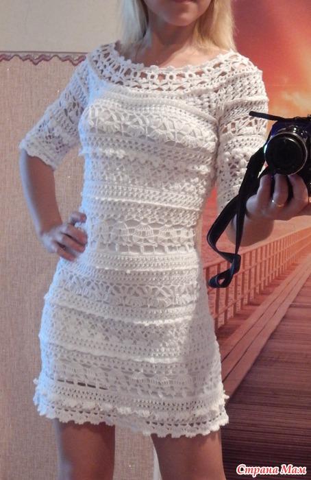 Вязание платья по мотивам ванессы монторо мк 95