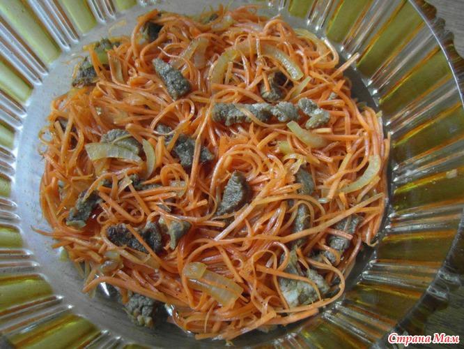 Мужской каприз с говядиной и морковью по корейски салат рецепт с