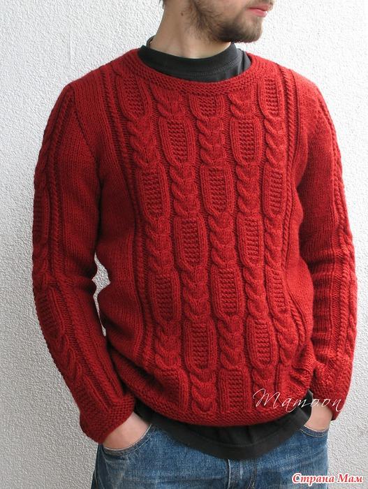 Полувер для мужчины вязание