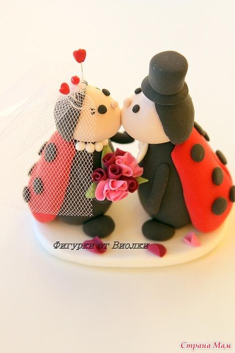 Картинки.свадебные торты.божья коровка