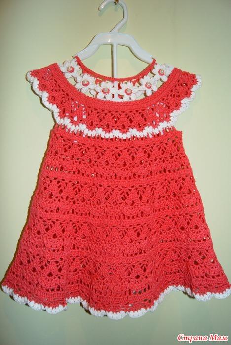 119Вязание платья цветочная феечка