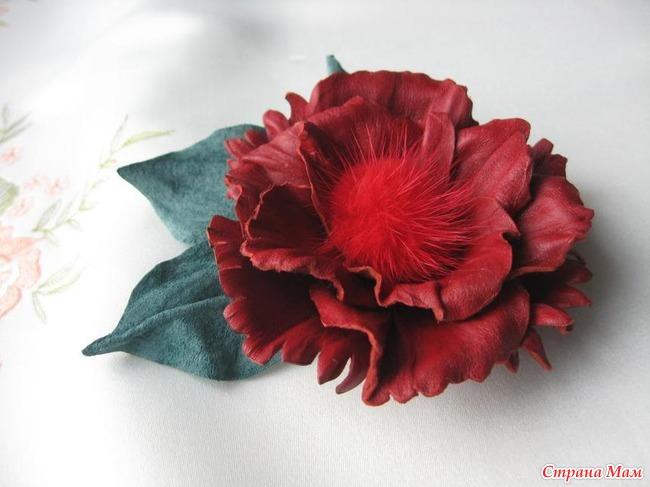 Цветы из кожи пошаговое