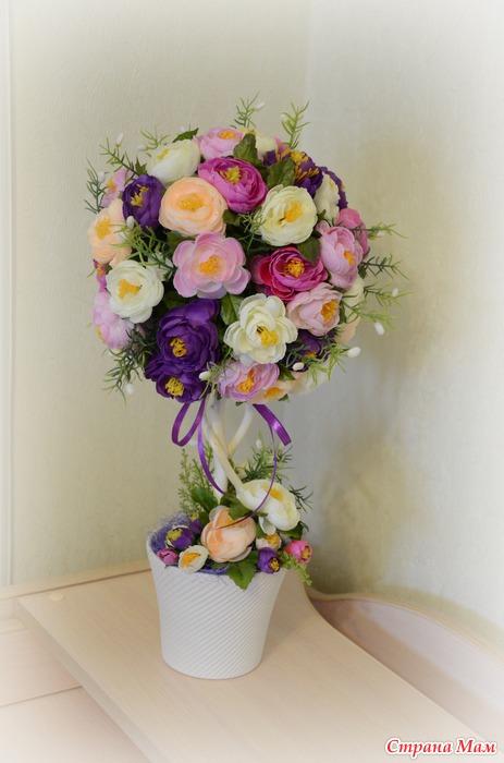 Топиарий из цветов все фото - Топиарии Цветы и флористика