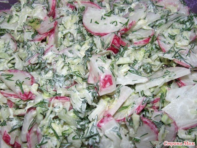 салат из редиса фото пошагово