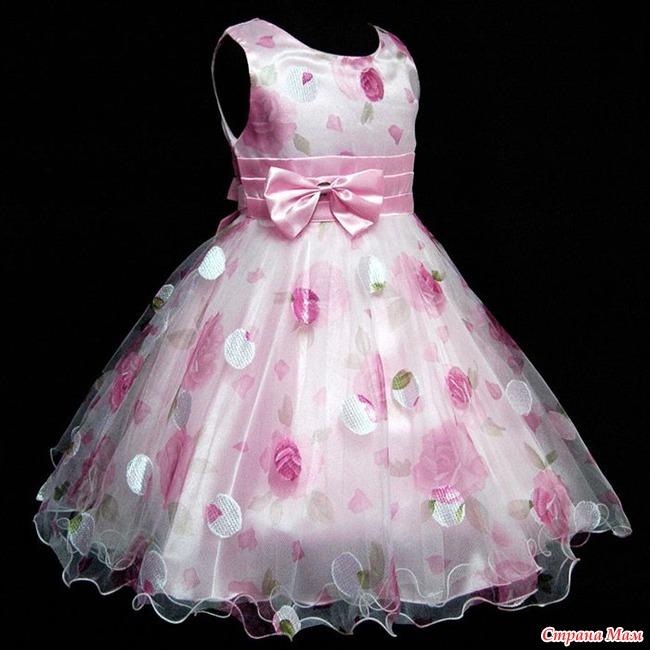 Бальное платье для девочки сшить