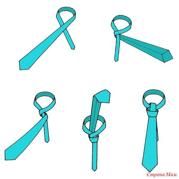 Завязать галстук женский пошагово