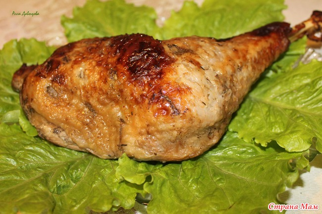 Ножка индейки запеченная в духовке рецепт