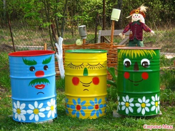 Поделки из бочек своими руками для сада и огорода