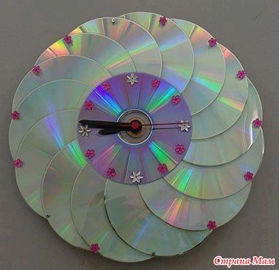 Поделки из дисков маме