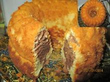 Классический кекс с цедрой лимона и какао.