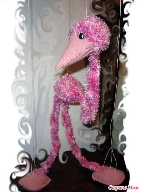 Страусенок-марионетка: фотография в альбоме Шила я игрушки - Страна Мам