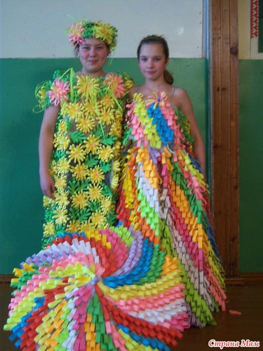 Платья из салфеток своими руками на конкурс 7