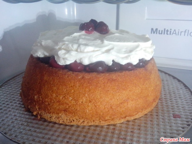 Вишневый торт с кремом маскарпоне