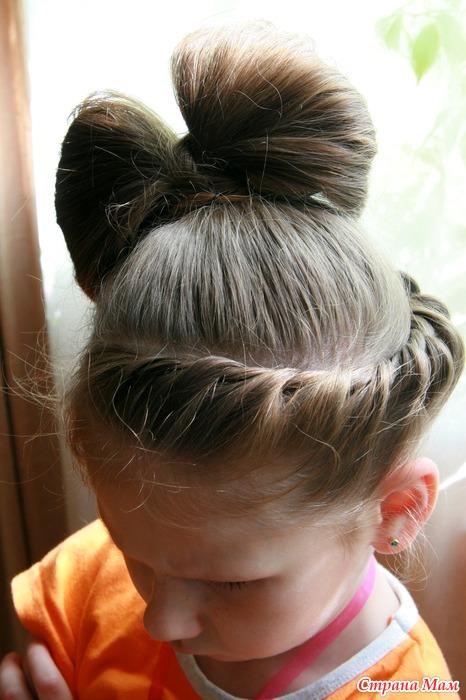 Как сделать бантик для девочки из волос 33