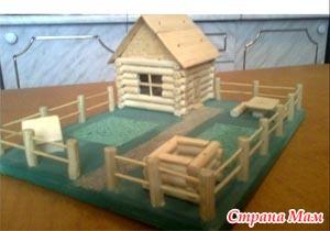 Поделка домик в детский садик