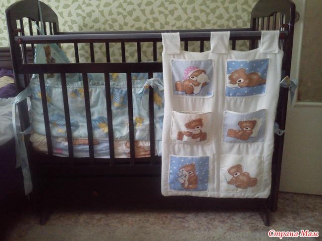Как сшить кармашки на детскую кроватку