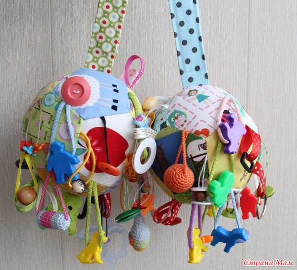 Развивающий шарик для детей своими руками