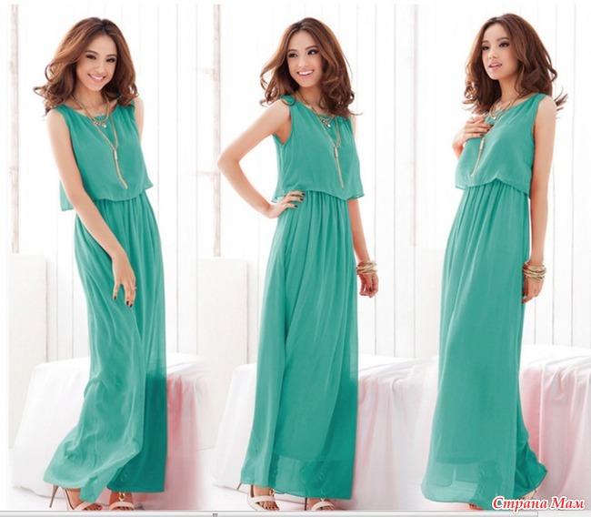 Вечернее летние платье