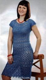 Платье по кругу крючком