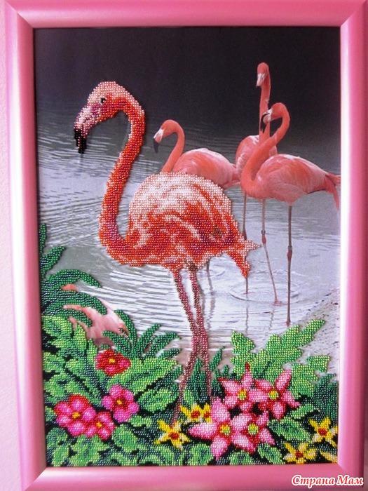 """шёлку """"Розовый фламинго"""""""
