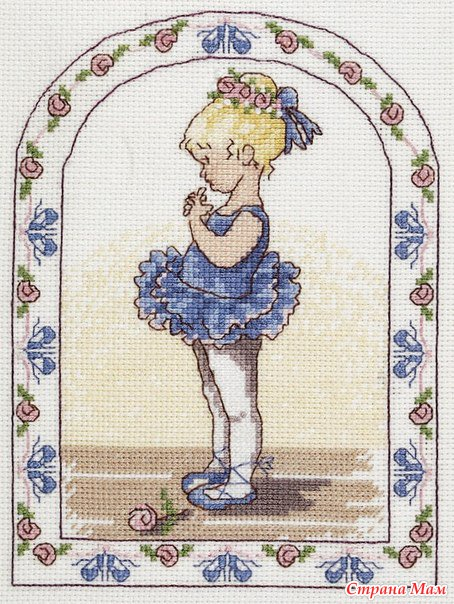Маленькая схема вышивкой балерина