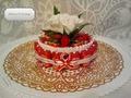 Тортик с белой розой.