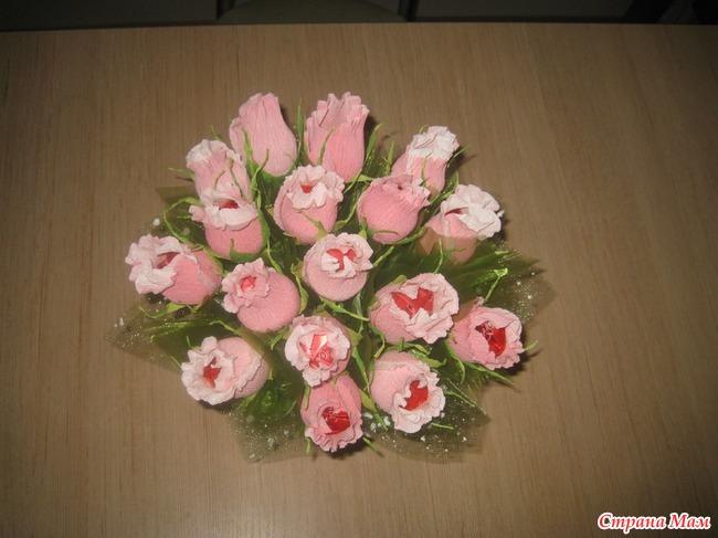 Букеты из конфет  мк роза