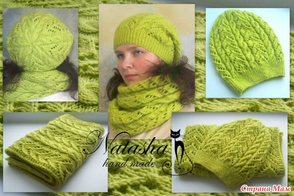 Вязаные шапки спицами для женщин Nataly Kadyrova Простые схемы