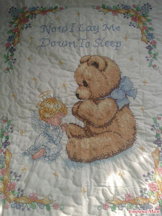 Одеяльца детские вышивка