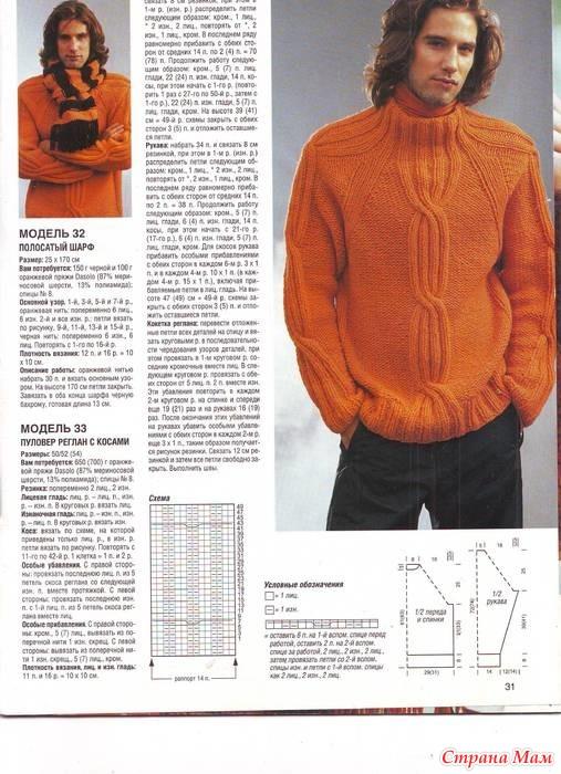 Вязание для мужчин спицами 2015 год
