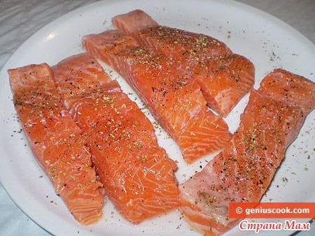 Филе лосося в духовке рецепт с фото