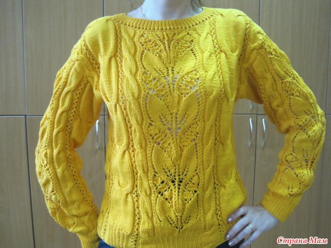 пуловер:араны и ландыши