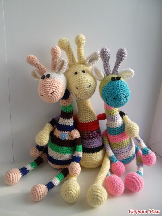 Игрушки жирафики своими руками