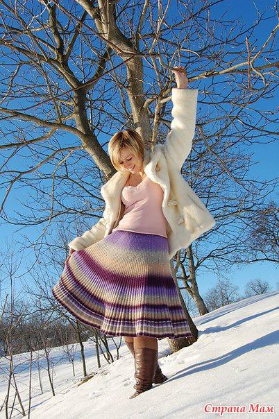 вязание болгарской юбки