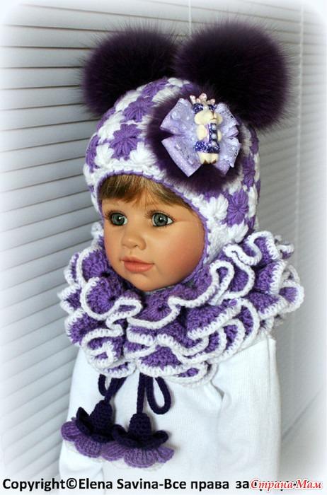 Своими руками вязаные детские шапки на зиму
